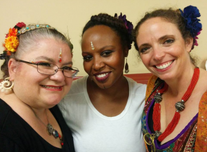 Post performance glow with Cat, Alysia, and Deborah (September 20, 2015)