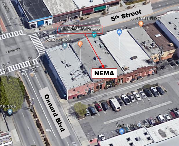 NEMA location at 5th Street and Oxnard Blvd - Parking off Oxnard, no entrance from 5th Street